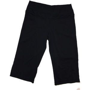 Lululemon  Black Astro crop double waist SZ 8